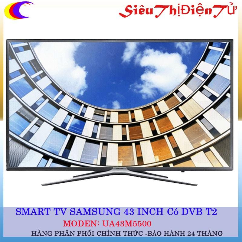 [SIÊU THỊ ĐIỆN TỬ] Smart Tivi Samsung 43 inch UA43M5500 Có DVB T2 - 2915071 , 776255440 , 322_776255440 , 10900000 , SIEU-THI-DIEN-TU-Smart-Tivi-Samsung-43-inch-UA43M5500-Co-DVB-T2-322_776255440 , shopee.vn , [SIÊU THỊ ĐIỆN TỬ] Smart Tivi Samsung 43 inch UA43M5500 Có DVB T2