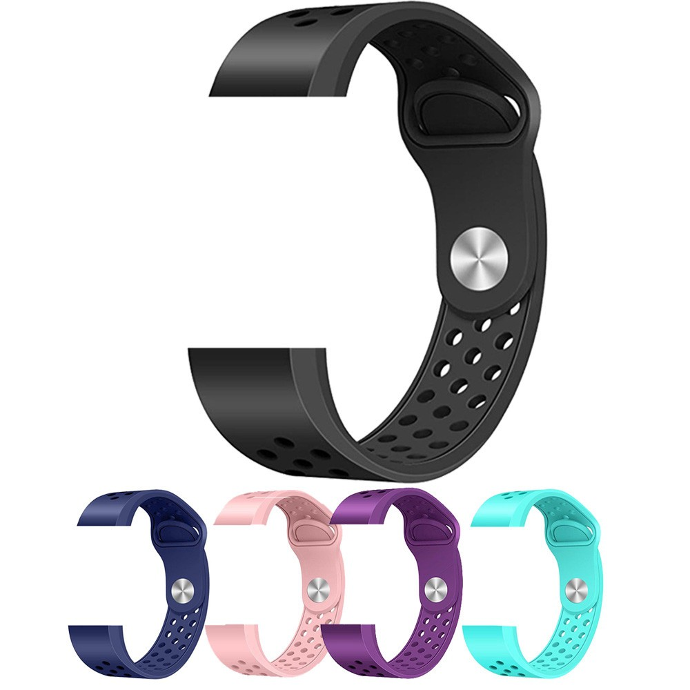 Fashion Sports Silicone Bracelet Strap Band For Fitbit Charge 2