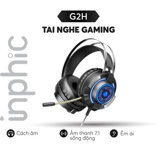 Tai nghe headphone gaming 7.1 ARINFA Inphic G2H - Âm siêu trầm sống động nhẹ dẻo cho game thủ chuyên nghiệp - Chính Hãng