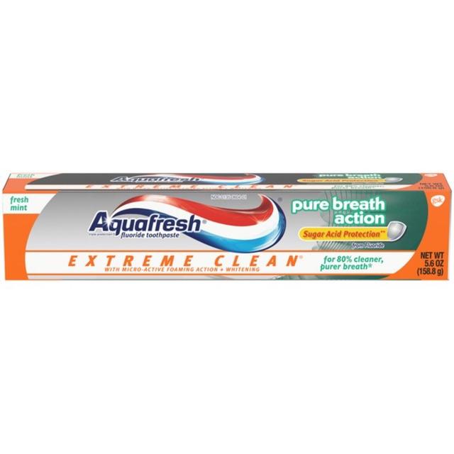 Kem Đánh Răng Aquafresh 158.7g Mỹ Extreme Clean Whitening Action và Pure Breath 158.7G