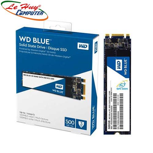[Mã ELMS05 giảm 5% đơn 300k]Ổ cứng SSD Western Digital Blue 500GB WDS500G2B0B M.2 2280 SATA 3