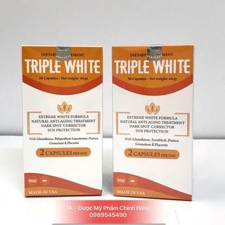(CHÍNH HÃNG) TRIPLE WHITE Viên Uống Trắng Da Glutathione 1200mg, Chống Nắng, Giảm Thâm Nám, Chống Lão Hoá - Hộp 50 Viên thumbnail