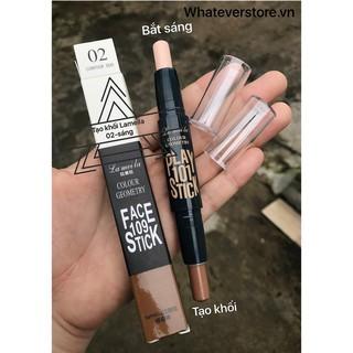 Tạo Khối nội địa Geometry trang điểm lâu trôi highlight contour makeup chính hãng nội địa sỉ Kang thumbnail