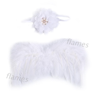 FL 1Set Cute Angel Baby Feather Newborn Photography Props Wings Costume Headband
