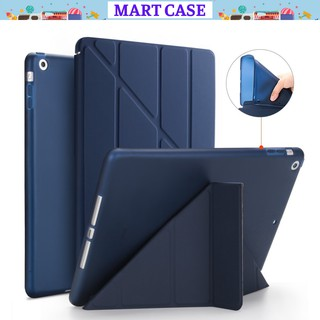 Bao da ipad Silicon Gập Tam Giác chất đẹp ốp ipad Pro 12.9/11/9.7/10.5/Air4/10.2 gen 7/8…MART CASE
