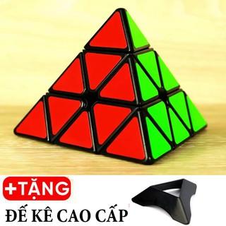 Rubik Tam Giác Pyramid Viền Đen Sticker Xoay Trơn Bẻ Góc Tốt