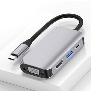 Cáp chuyển đổi USB Type c to HDMI, VGA, USB A, USB C 4in1 dùng cho Macbook, Dell XPS, HP Envy, SAMSUNG DEX  cao cấp