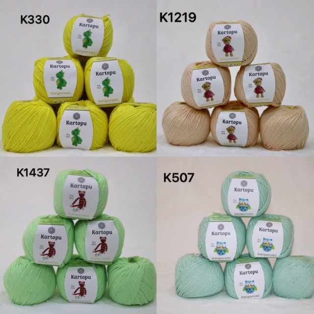 3 Ball Kartopu Amigurumi Total 5.28 Oz Each 1.76 Oz (50g) / 142 ... | 640x640