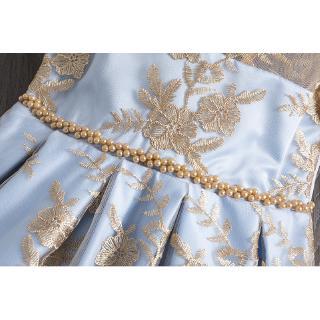 Đầm Dáng Xòe Họa Tiết Hoa Xinh Xắn Dành Cho Bé Gái