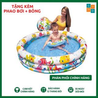 Bể Bơi Phao Cho Bé 3 Tầng Cao Cấp Tặng Kèm Bóng Và Phao Bơi