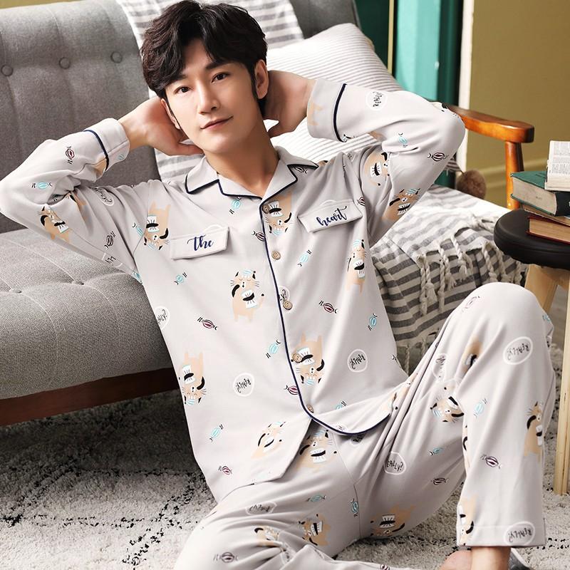 Đồ Bộ Nam Pijama nam màu sắc trung tính cực kỳ dễ mặc, họa tiết nam tính khỏe khoắn, vải cotton 100% mềm mại thoáng mát