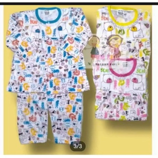 Bộ đồ ngủ dài tay xinh xắn dành cho bé 4-12 tháng tuổi
