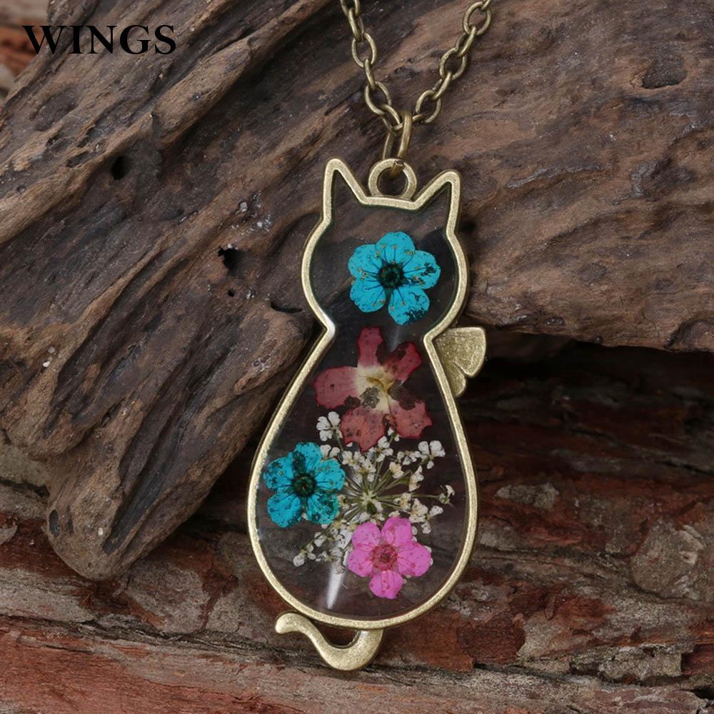 Necklace Handmade Dried Flowers Retro  Jewelry Fashion Alloy Women Fashion