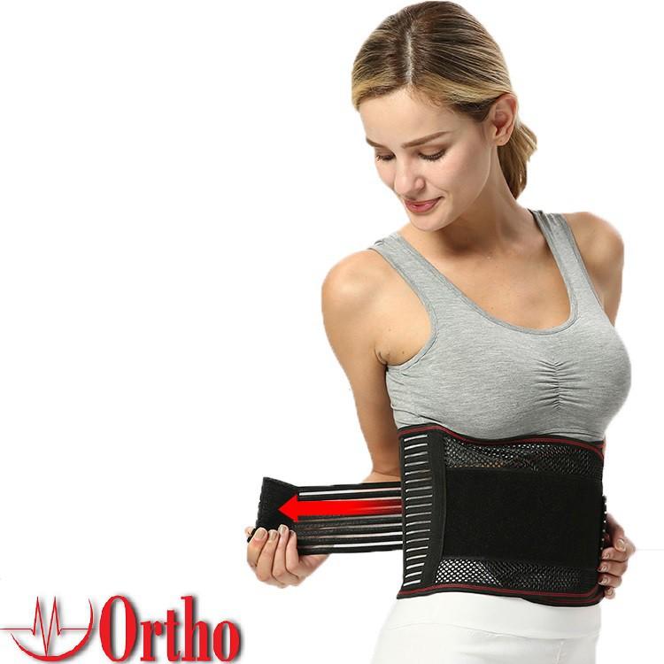 Đai bảo vệ cột sống thắt lưng Ortho, hỗ trợ lực, giảm đau vùng lưng (1 chiếc) DTL1