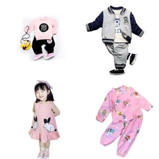 FLASH SALE Combo 4 bộ và váy cho bé (có thể đổi váy sang bộ highfive cho bé trai)