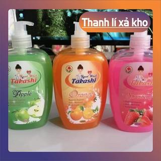 combo 3 chai nước rửa tay diệt khuẩn takashi 520ml