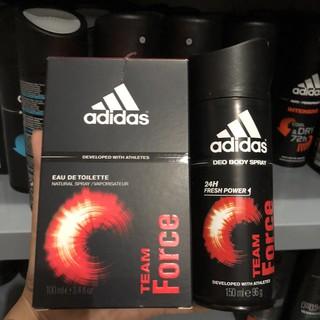 [Siêu Rẻ]Bộ nước hoa + xịt khử mùi nam Adidas Team Force thumbnail