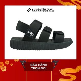 [CHÍNH HÃNG] SANDAL SAADO BE03 - Black Wolf - Màu Đen Trơn Giày Sandal Nam Nữ Đi Học Basic thumbnail