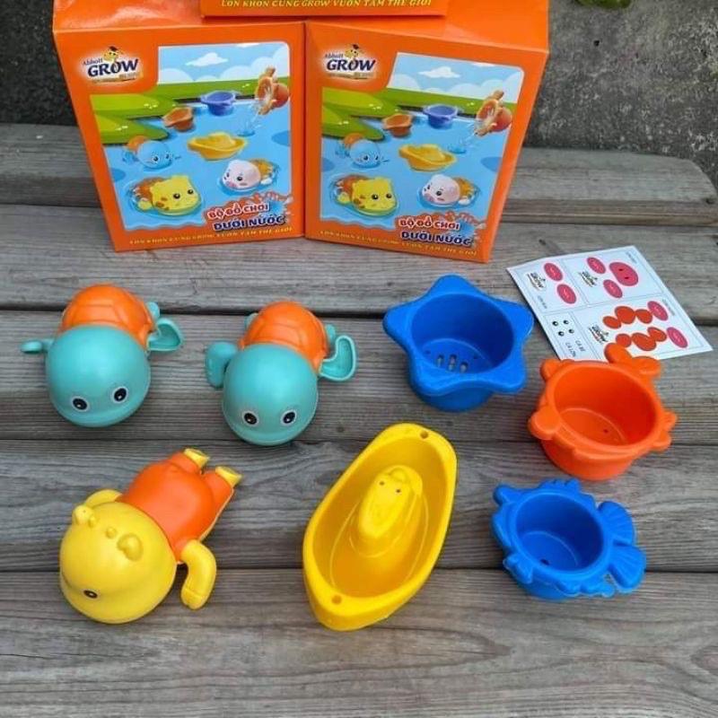 Bộ đồ chơi dưới nước và bộ câu cá Grow cho bé