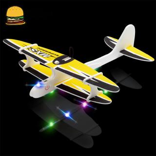 Foam Hand Throwing Aircraft Electric Assembling Plane Toy Electric Glider Aviation Model