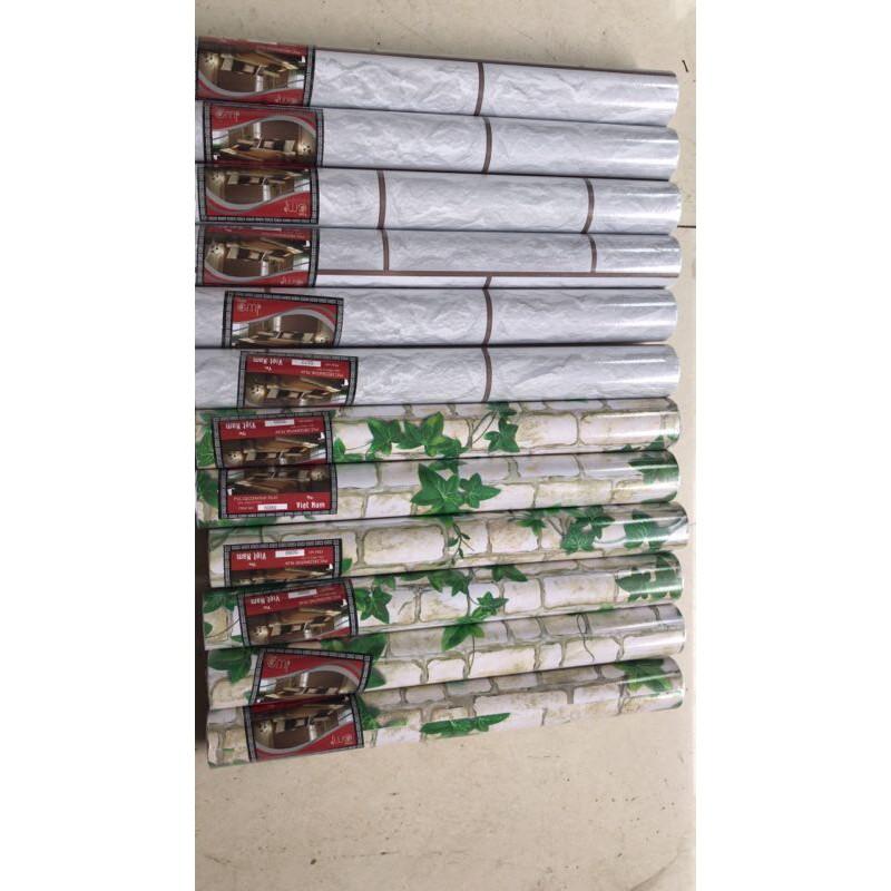 [XẢ KHO] 10m giấy dán tường giả gạch các loại khổ rộng 45cm