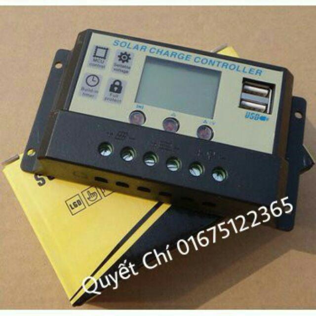 Combo ĐKS 10A có màn hình và tấm pin 30w