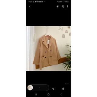 Áo khoác blazer 1 lớp màu nâu thumbnail