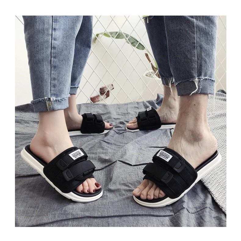 (Có 2 Màu) Dép nam nữ quai ngang unisex inviti Fashion quai dán cá tính
