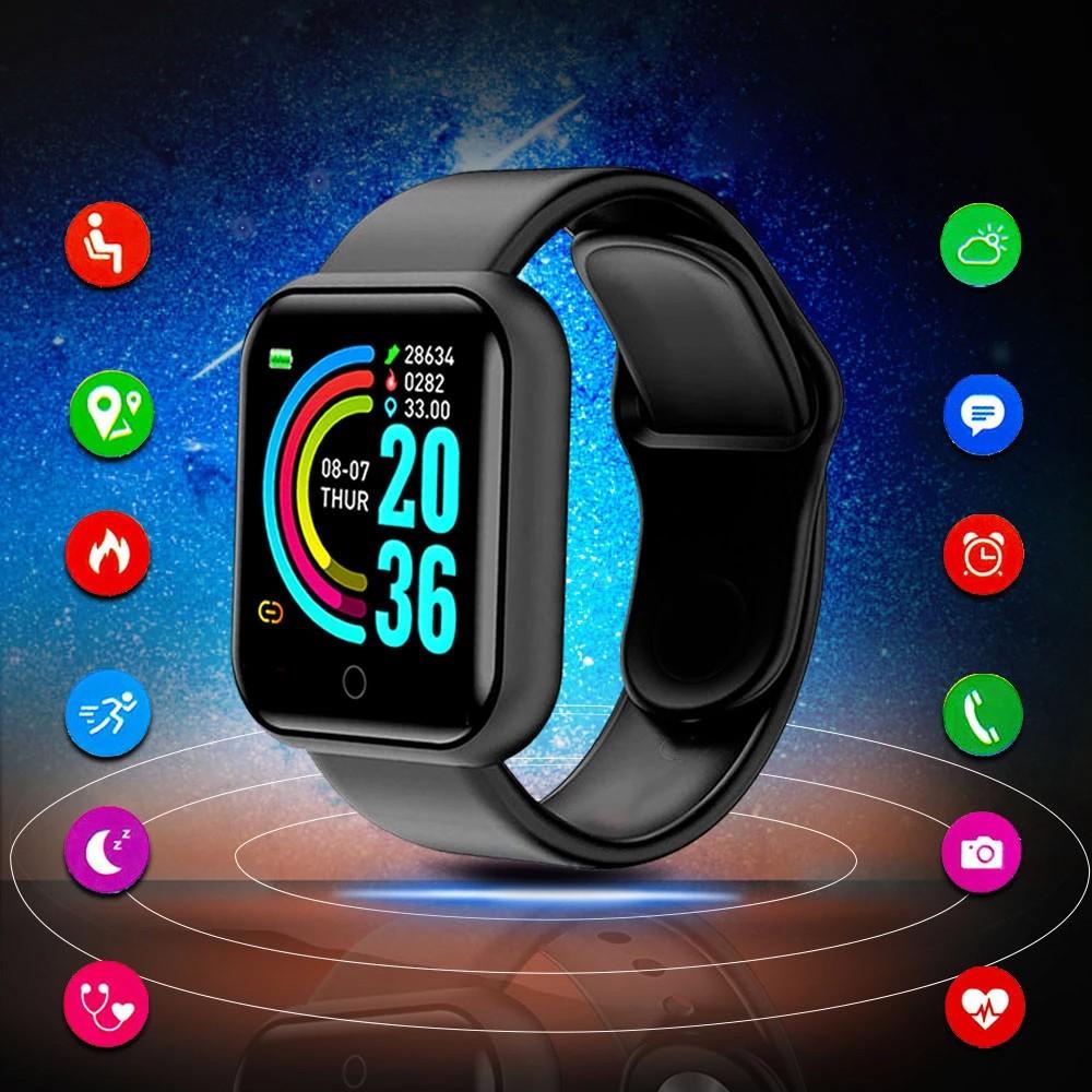 Đồng hồ thông minh Y68 chống nước theo dõi sức khoẻ nhịp tim cho nam và nữ
