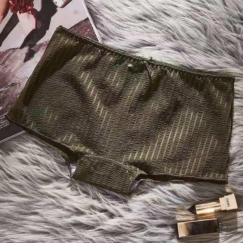 5 Quần lót nữ quần đùi lưới xếp li quần cotton cực mát khô thoáng co giãn quần nội y