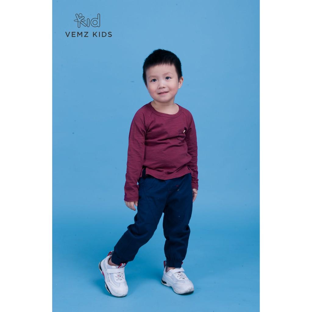Áo dài tay túi ngực VEMZKIDS cho bé trai