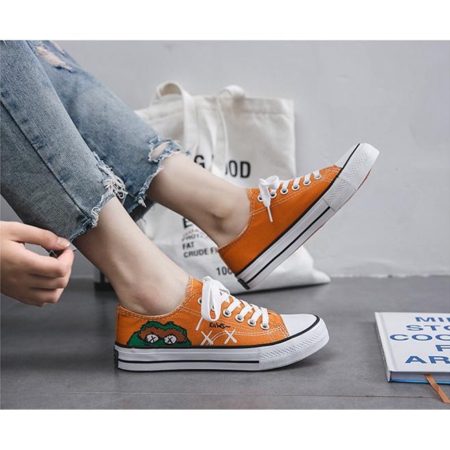 Giày Thể Thao Vải Bạt Thời Trang Hàn Cho Nữ 1688kaws