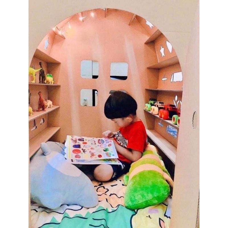 💥SALE SỐC💥 Nhà Bìa Carton Cho Bé Siêu Đẹp, Chắc Chắn – Nhà đồ chơi lắp ghép thông minh cho bé