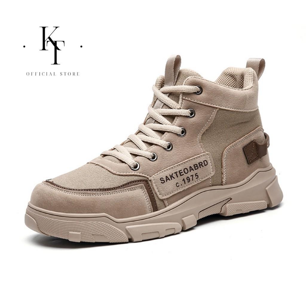 Giày Nam TKT-MS38 Giày Sneaker Nam Cổ Cao Phong Cách Phượt Bụi Chính Hãng TKT STORE Size (39-43)