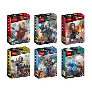 Bộ 6 minifigure siêu anh hùng Marvel Avenger Age Of Ultron – DECOOL [0217- 0222]