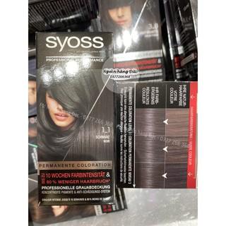 Thuốc nhuộm tóc Syoss Đức màu đen (phủ bạc tốt) syoss 1-1 - Nguồn hàng Đức