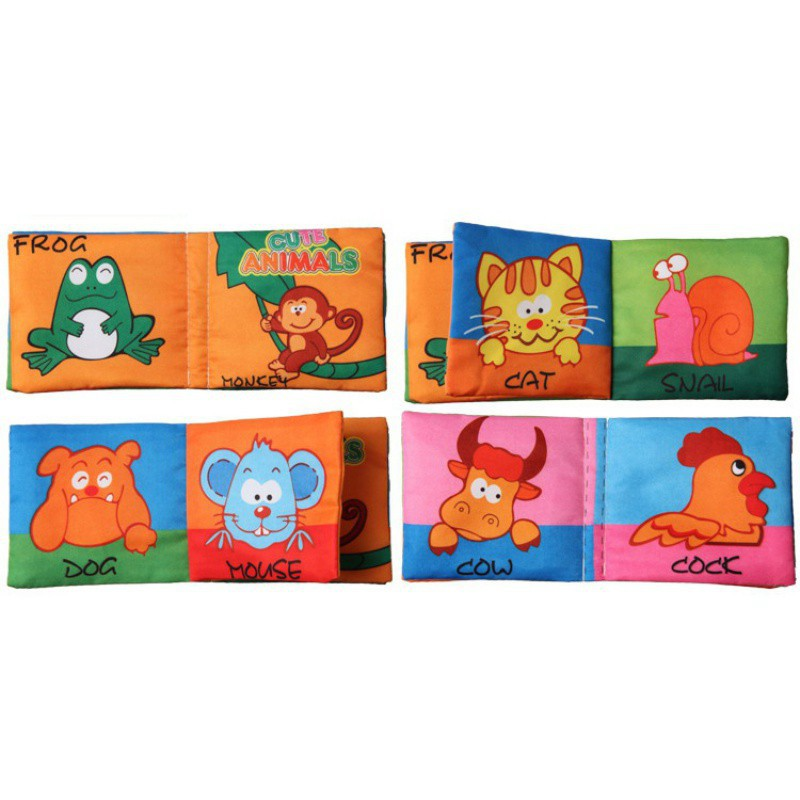 Infant Early Cognitive Development Educational Cloth Books