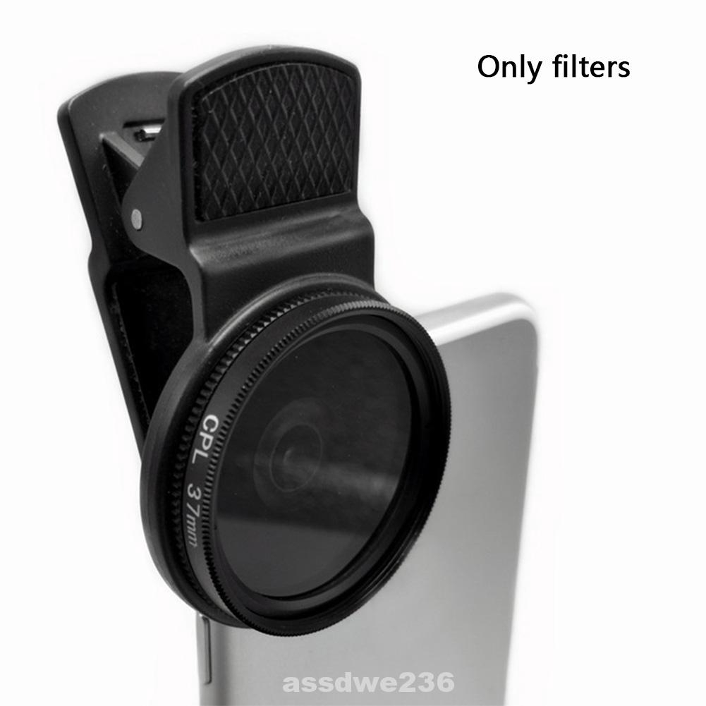 37MM Black CPL Camera Circular Clip On Polarizer Universal Lens
