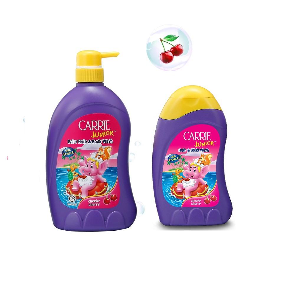 Sữa Tắm Gội Carrie Junior Hương Cherry cho bé 700g + Sữa tắm Cherry 280g