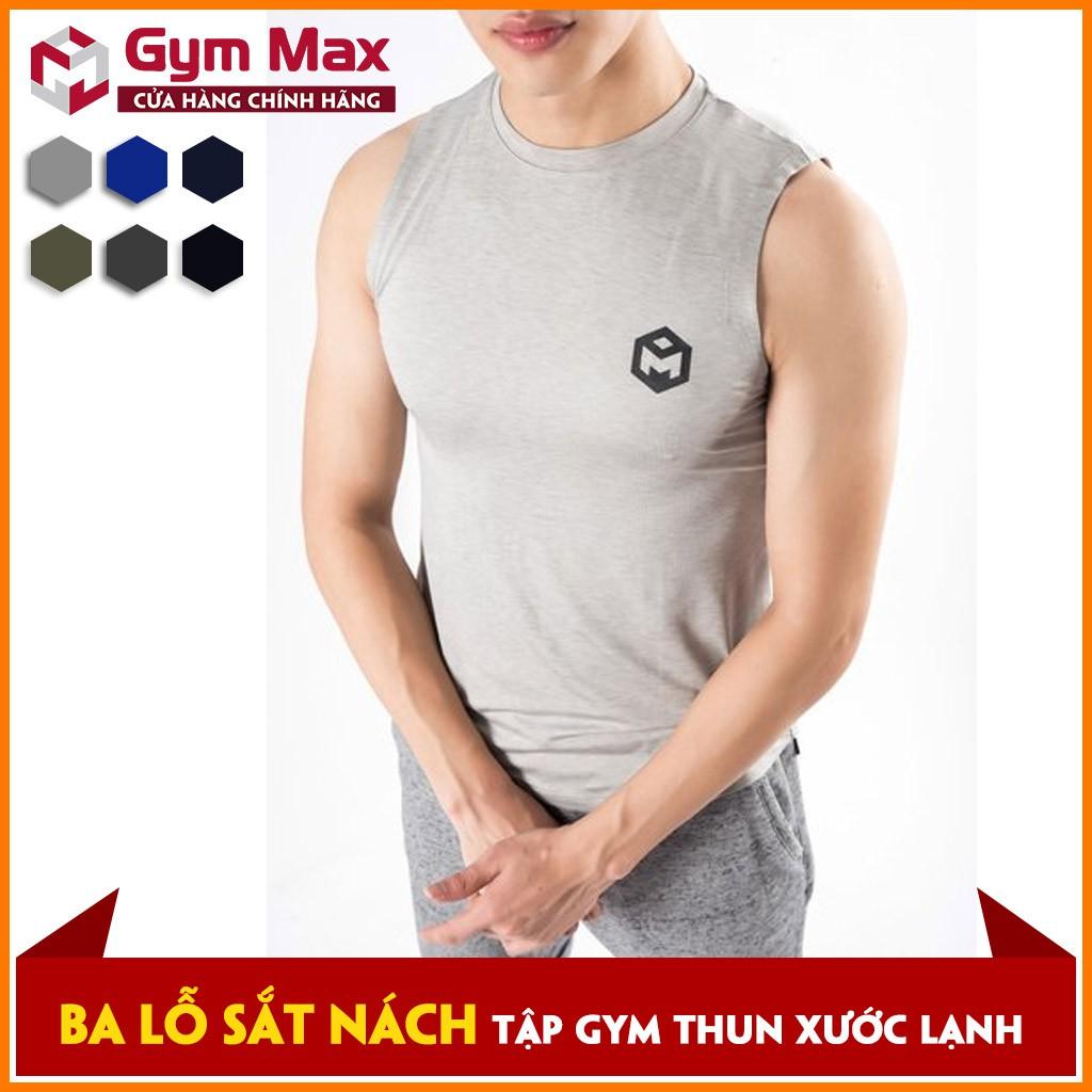 Áo ba lỗ gym THUN XƯỚC LẠNH - Gymmax sát nách cổ tròn  B0603