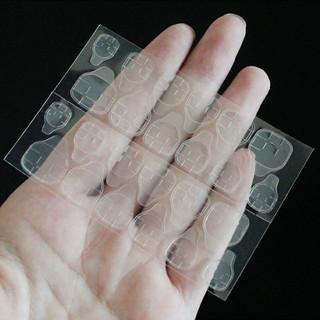 Miếng dán móng, vỉ 24 miếng silicon dán móng tay giả không dùng keo rẻ nhất Hà Nội