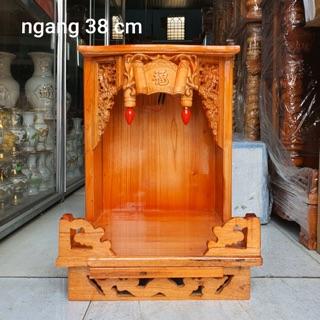 Bàn thờ thần tài ông địa gỗ xoan ngang 38 cm thumbnail
