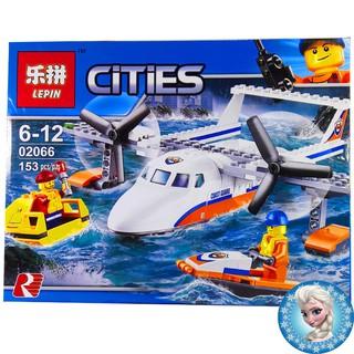 Bộ Lego Xếp hình Ninjago City Siêu Máy Bay 06066. Có 153 chi tiết. Lego Ninjago Lắp Ráp Đồ Chơi Cho Bé.