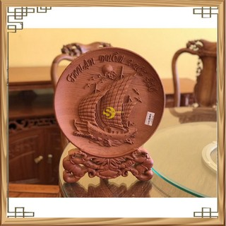 Đĩa tròn thuận buồm xuôi gió gỗ hương đá cao cấp giá rẻ