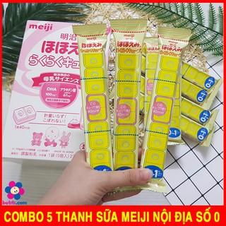 COMBO 5 Thanh Sữa Thanh Meiji 27g - Sữa Meiji Thanh Số 0-1 Nội Địa Nhật thumbnail