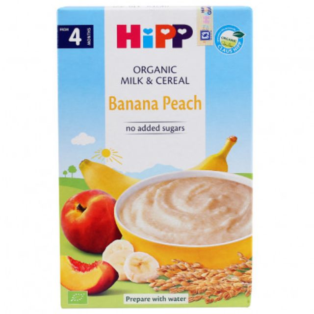 Bột ăn dặm HiPP sữa Chuối,Đào 2973(250g) Date 31/10/2019 _hàng chính hãng