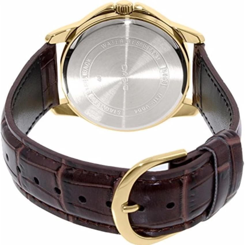 Đồng hồ nam dây da Casio chính hãng Anh Khuê MTP-V004GL-9AUDF