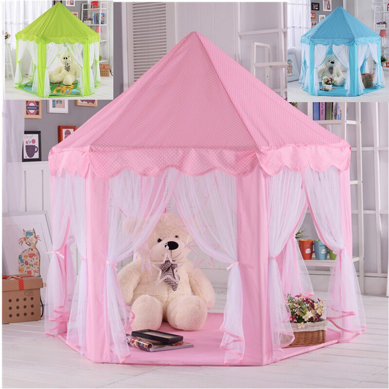 [NHẬN QUÀ 0đ] Lều cho bé, lều công chúa, hoàng tử_lều bóng cho bé loại to đẹp mẫu mới kích thước 1.35m*1.4m