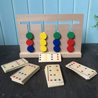 Giáo cụ Montessori Fours color Game