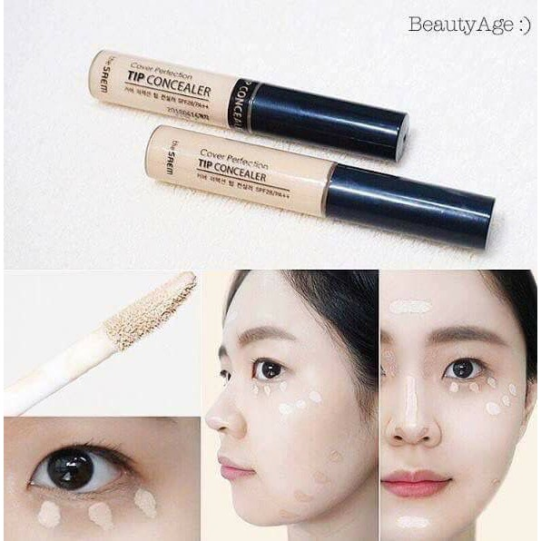CHE KHUYẾT ĐIỂM COVER PERFECTION TIP CONCEALER SPF 28 PA++ – THE SAEM